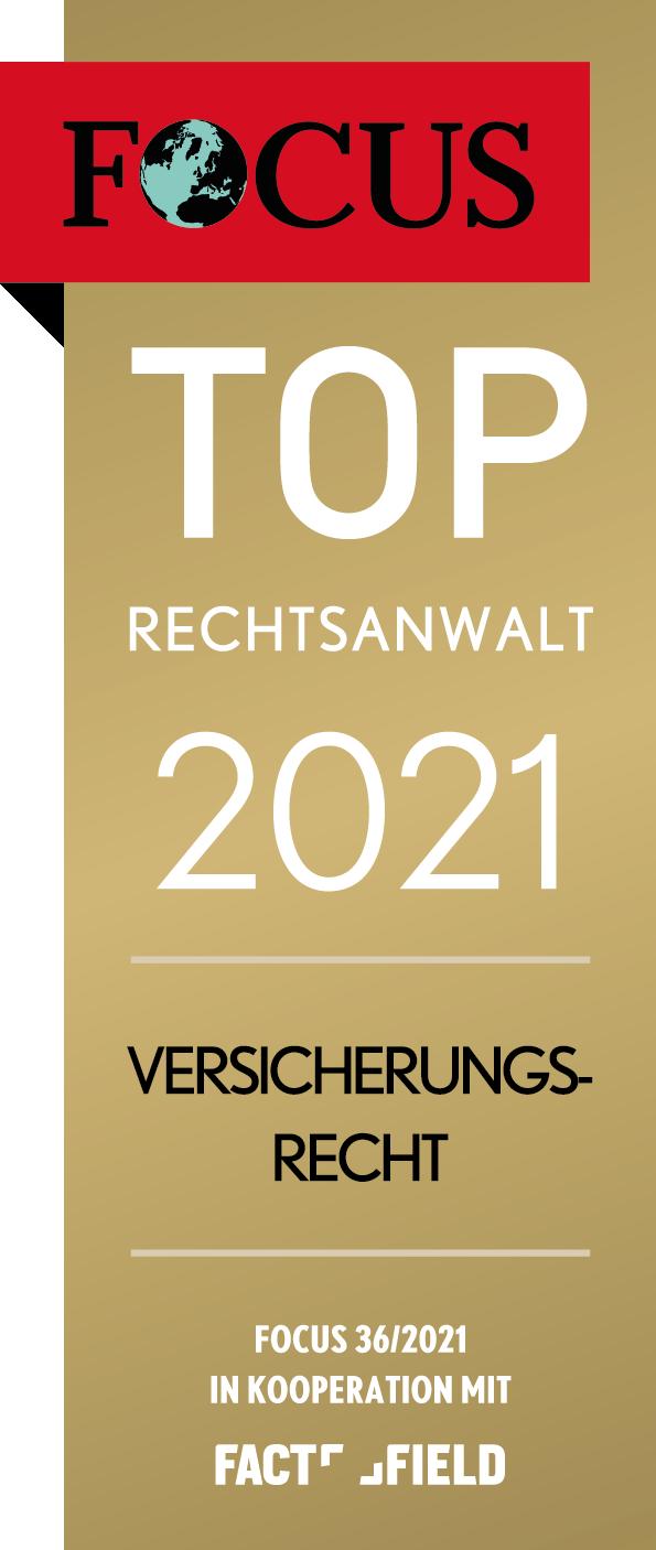 Jürgen Wahl Focus TOP Rechtsanwalt 2021 Verischerungsrecht Offenbach